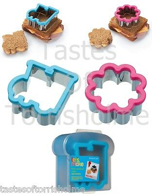 Kitchen Craft Childrens Sandwich Shape Cutter & Storage Packed Lunch Box