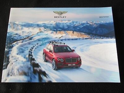 2017 2016 Bentley Bentayga Sales Brochure 1st Year New SUV Intro US Catalog