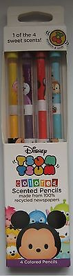 Disney Smencils Tsum Tsum 4 Pack Colored Scented Pencils 4 count New in Package