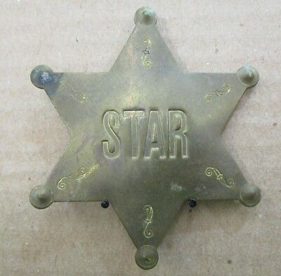 Vintage Lowell Sigmund STAR Sheriff Style Badge