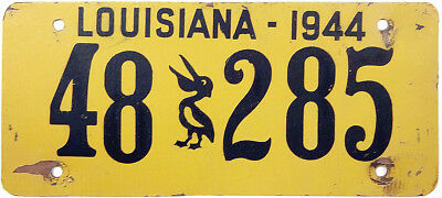 1944 LOUISIANA license plate (GIBBY GOOD)