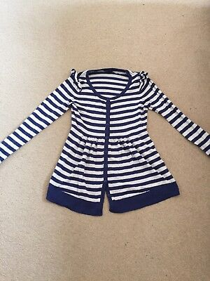 H&M Maternity Cardigan Size S - Blue And Cream Stripes