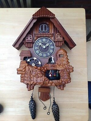 Large Animated Swiss? Musical Cuckoo Clock (see Description)