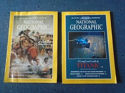 2 x NATIONAL GEOGRAPHIC MAGAZINE January & December 1986