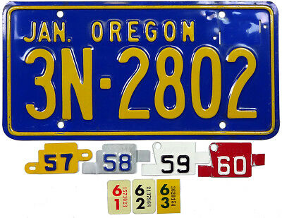 1957 1958 1959 1960 1961 1962 1963 OREGON license plate (GIBBY CHOICE