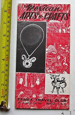 Mexico Travel Brochure Pemex Travel Club Mexican Arts and Crafts