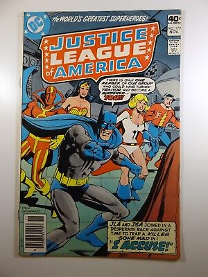 """Justice League of America #172 """"I Accuse!"""" Beautiful VF- Condition!!"""