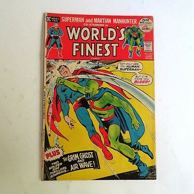World's Finest 212 (1972) Superman and Martian Manhunter Grim Ghost DC B02