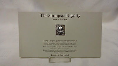 1977 The Stamps Of Royalty Sterling Silver Postage Stamp - No 6 - 2 1/2d