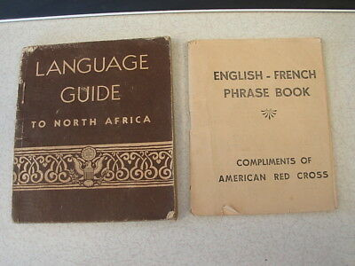 WW II US Army Language Guide to North Africa & English French Phrase Book