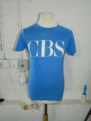 Vintage 1980's Champion Blue T-Shirt With CBS Print - M made in U.S.A