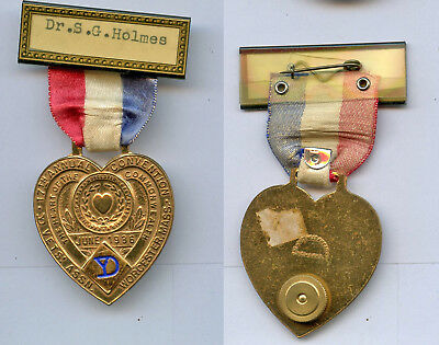 WWI WW1 26th Division AEF Yankee Div. Medical Officer S G Holmes Reunion Medal