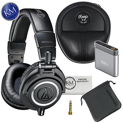 Audio-Technica ATH-M50x Monitor Headphones (Black) with Headphone Bundle