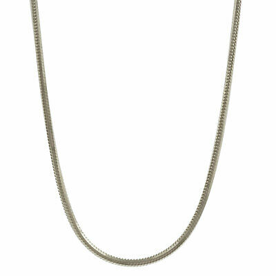 0.9 mm 19,7 inch 585 white gold snake chain 14 kt solid gold high-quality diamon