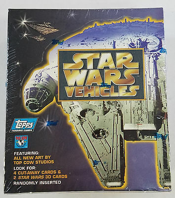 1997 Topps Star Wars Vehicles Factory Sealed Box (A)