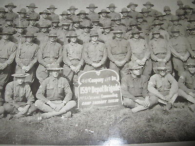 Vintage Original World War 1 Panoramic Photo 159th Depot Brigade