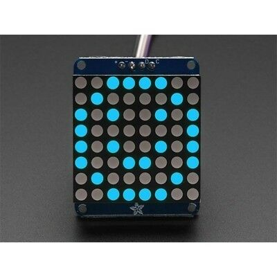 "Adafruit 1052 Small 1.2"" 8x8 Round LED Matrix with I2C Backpack Blue"