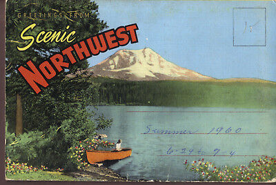 NORTHWEST United States Scenic Greetings fold-out postcard