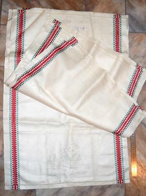 7x Unworked Pure IRISH LINEN TEA TOWELS Days of the Week Vintage New Embroidery