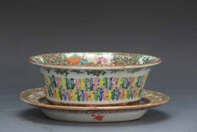 19th.c Chinese Rose Medallion Vegetable Tureen and Reticulated Under Tray #2