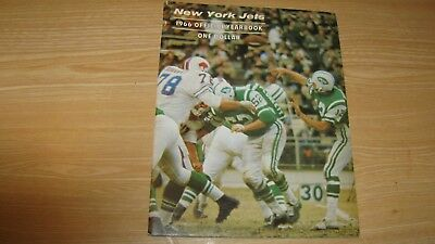 1966 New York Jets Football Yearbook Year Book Joe Namath  W/  24X30  Poster Nm