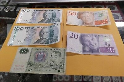 280 Sweden Kronor Notes (5 Notes)