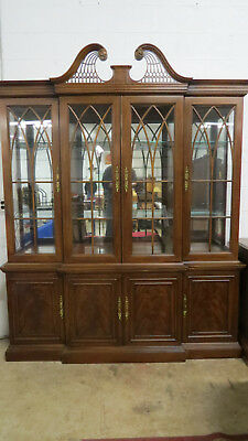 Drexel China Cabinet Breakfront Mahogany Dining Room Set