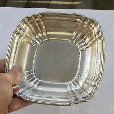 """RARE Vintage 6"""" Solid Sterling Silver Gorham Ribbed Serving Bowl Heavy Deco LOOK"""