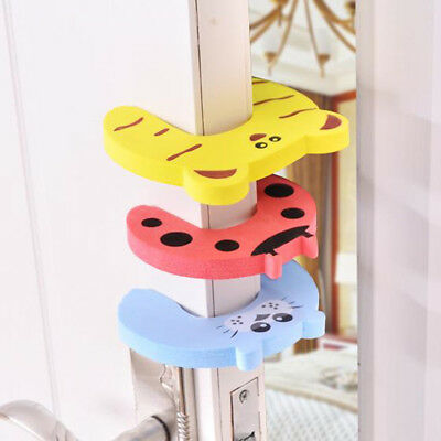 5/10pcs Children Baby Safety Cartoon Door Stopper Clip Clamp Pinch Hand NEW