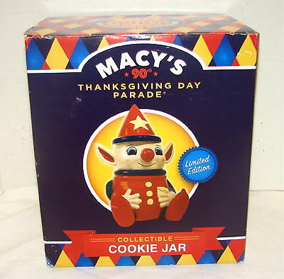 Macy's 90th Thanksgiving Day Parade Elf Cookie Jar