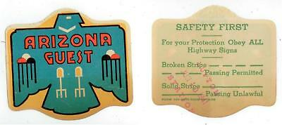 June 10 1941 Arizona Guest window decal from Lupton Station Route 66
