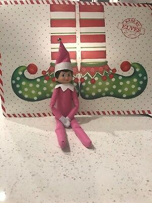 Plush Christmas PINK Elf, Female Elf, Doll Only