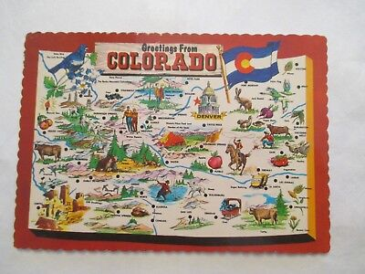Greetings from Colorado CO Continental Sized Postcard