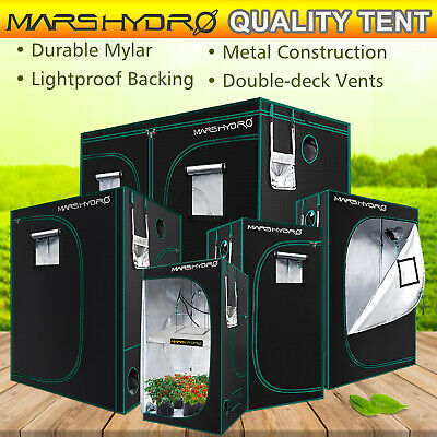 New Design Mars Hydro Portable Grow Tent Silver Mylar Hydroponic Dark Green Room