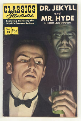 CLASSICS ILLUSTRATED: DR. JEKYLL AND MR. HYDE #13 HRN167. Very Fine!