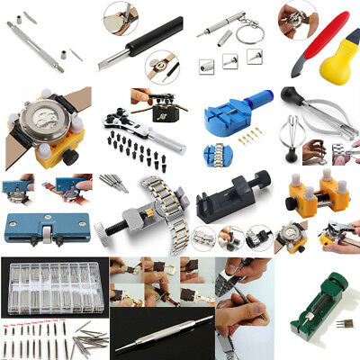 Adjustable Watch Band Strap Link Pin Remover Back Opener Battery Repair Tool Kit