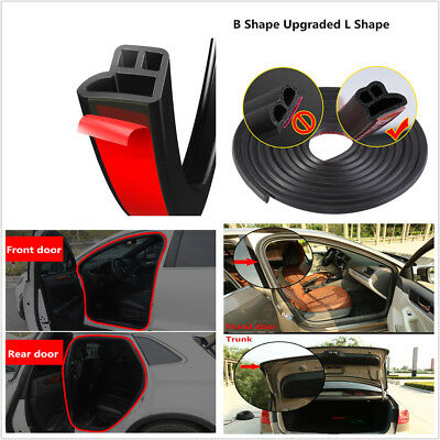 5M L Shape Car Front&Rear Door Hood Trunk Rubber Seal Strip For Sound Insulation