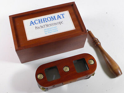 Achromatic Pocket Stereoscope by Alan Lewis (1997) S/N 001 - HB