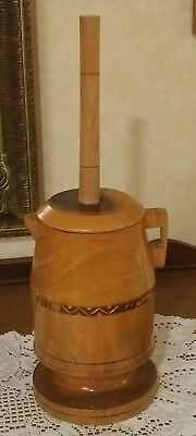 Wooden Butter Churn Yucatan Rosewood Beatiful New & Awesome