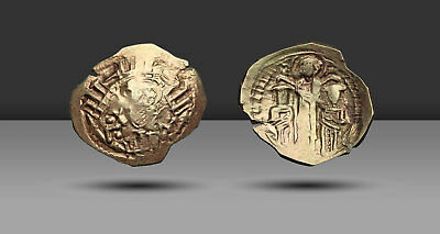 Andronicus II Palaeologus, with Michael IX, 1282-1328. Electrum Hyperpyron