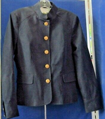 EUC Military Style BLAZER Navy by CHARTER CLUB w. Metal ANCHOR BUTTONS Sz 10