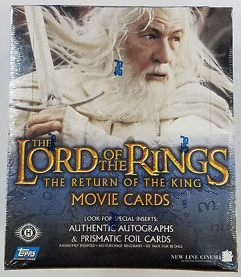 Topps LOTR Lord Of The Rings Return Of The King Hobby Box (C)