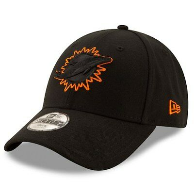 New Era Miami Dolphins Youth Black Momentum 9FORTY Adjustable Hat