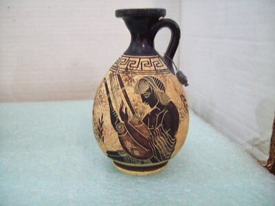 Copy of Classic Period 500 B.C. Vase / Urn, Handmade, Greece, Lead Seal, Handle