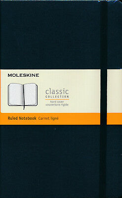 Moleskine Classic Hard Cover Ruled Notebook Large Black NEW