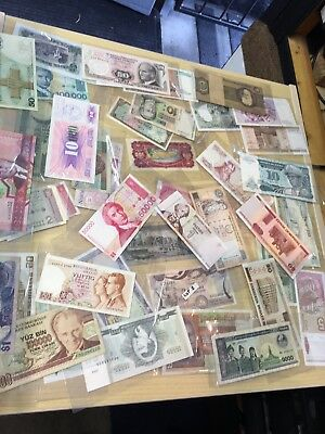 Mixed Job Lot Of World Banknotes LOT 2 Just Over 50 Bank Notes