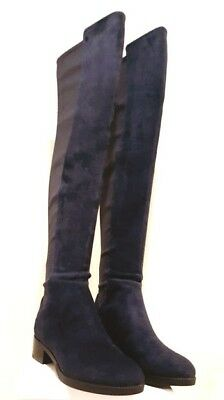 d485a387677  550 Tory Burch CAITLIN STRETCH Navy Blue Boot OVER THE KNEE Boots 7 7.5  8.5 9