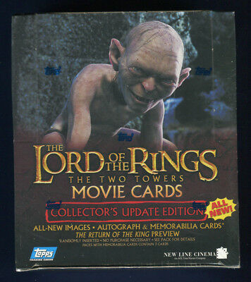2003 Topps LOTR Rings Two Towers Factory Sealed Collector's Update Hobby Box (B)