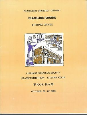 Lithuania Philatelic Society Stamp Exhibition Program 2000 Litauen,Lietuva