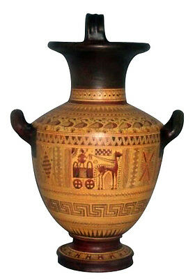 Ancient Greek Geometric Hydria Vase Museum Replica Reproduction